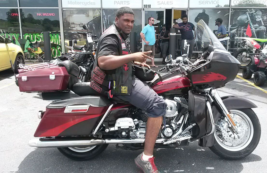 Justin with 2000 Harley-Davidson Screaming Eagle Road Glide