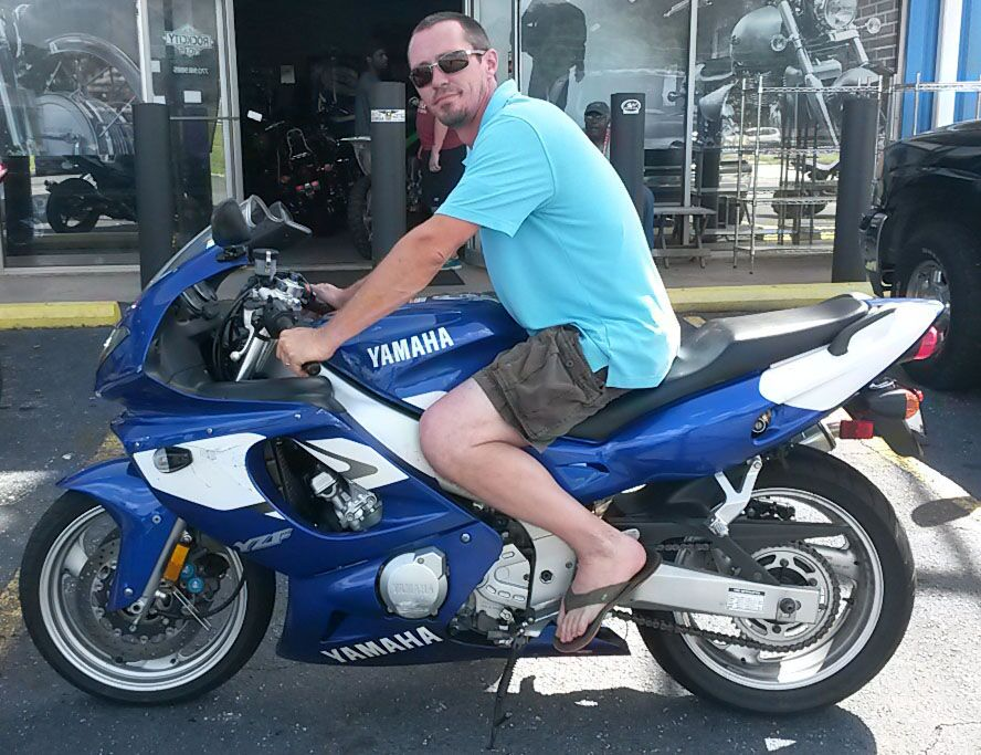 Wesley with 1998 Yamaha YZF600R