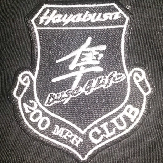 Hayabusa 200 mph Club Patch