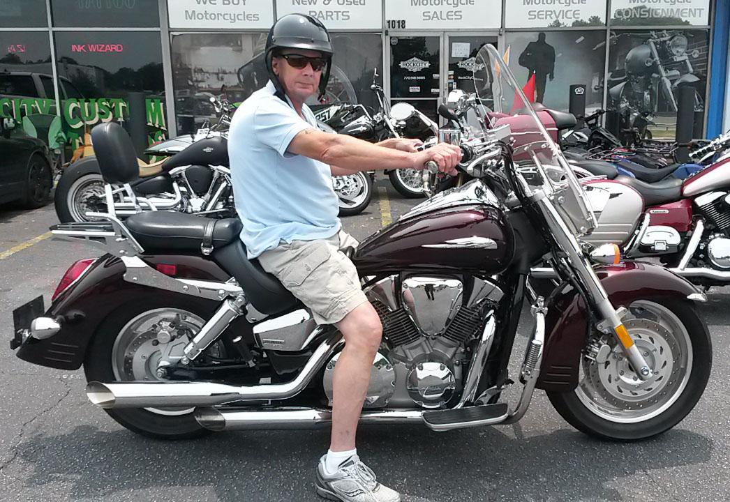 Jerry with 2007 Honda VTX1300R