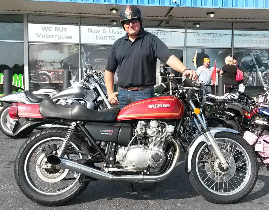 Jimmy with 1979 Suzuki GS750