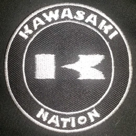 Kawasaki Nation K Custom Patch