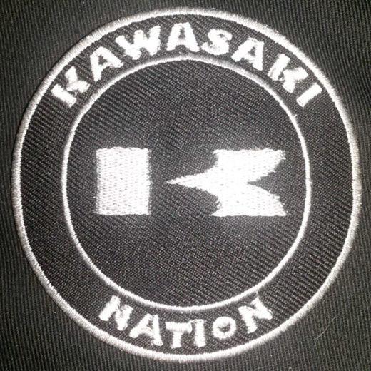 Kawasaki Nation K Custom Patch