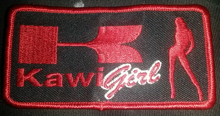 Red Kawi Girl Custom Patch