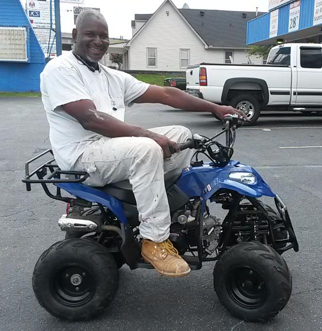 Stanley with 2014 Kazuma 110cc ATV