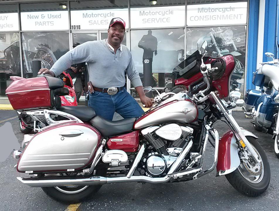 Anthony with 2007 Kawasaki Vulcan Nomad 1600 – Rock City ...