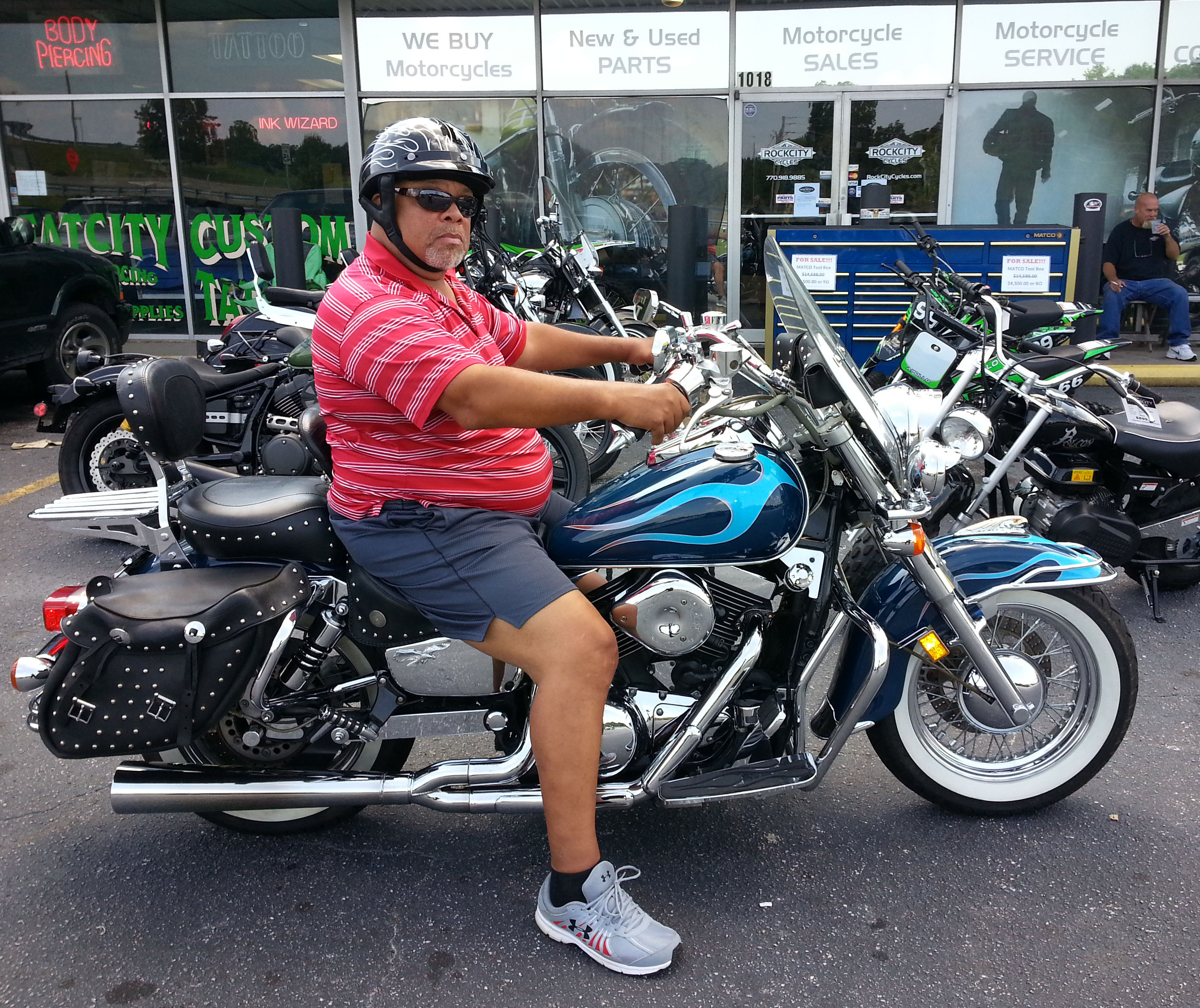 anthony with 1999 kawasaki vulcan classic 1500 rock city. Black Bedroom Furniture Sets. Home Design Ideas