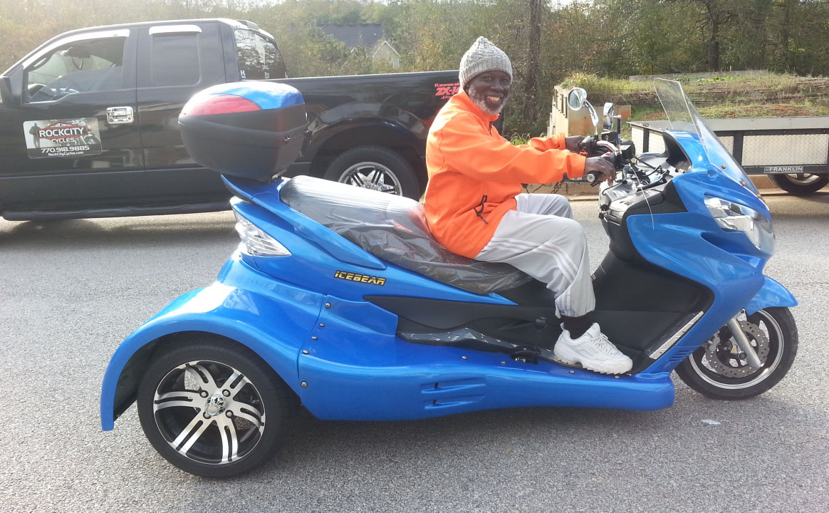 Ernest with 2015 Ice Bear 300cc Scooter