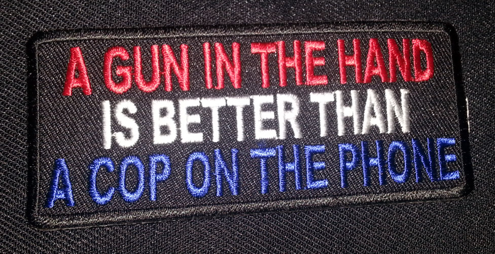 """A Gun In The Hand…"" patch"
