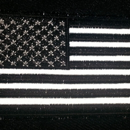 """Black & White American Flag"" patch"