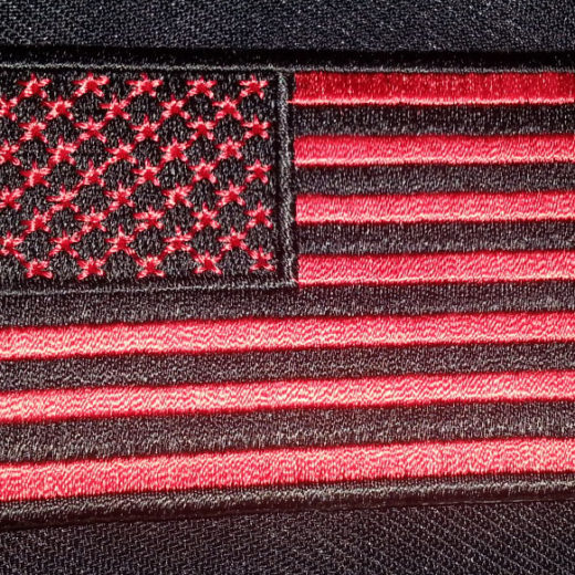 """Black & Red American Flag"" patch"