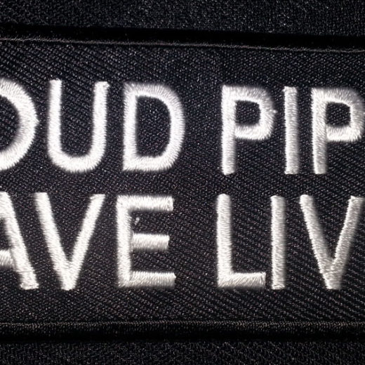 """Loud Pipes Saves Lives"" patch"