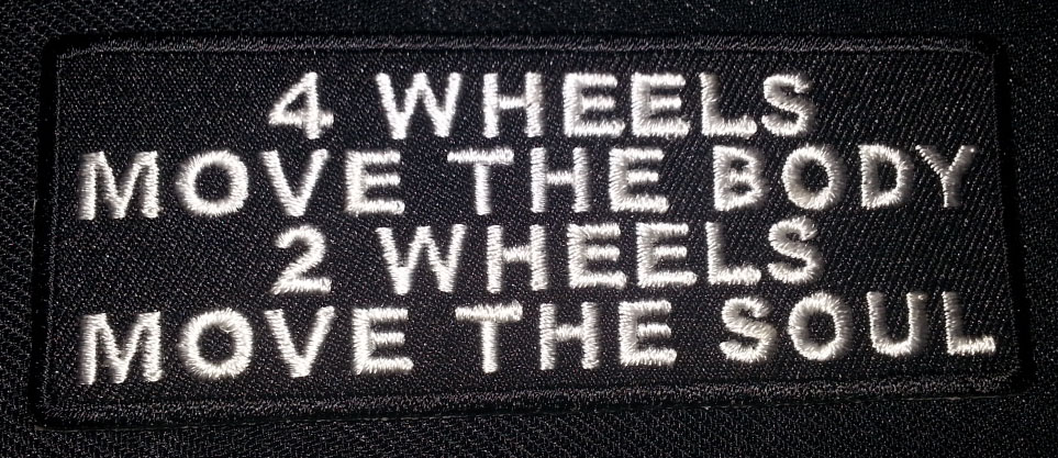 """4 Wheels Move The Body…"" patch"