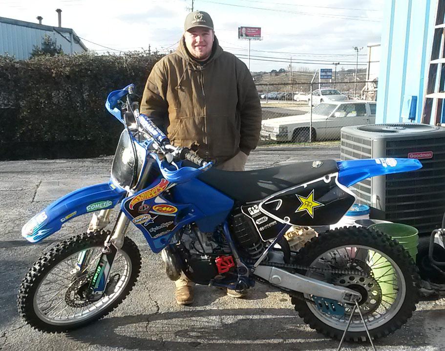 Jacob with 2001 Yamaha YZ250