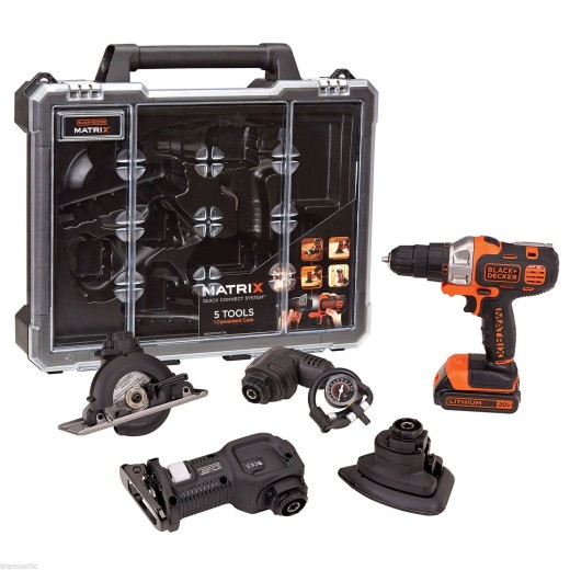 Black & Decker MATRIX 20V Quick Connect 5-Piece Tool Bundle w/Storage Case