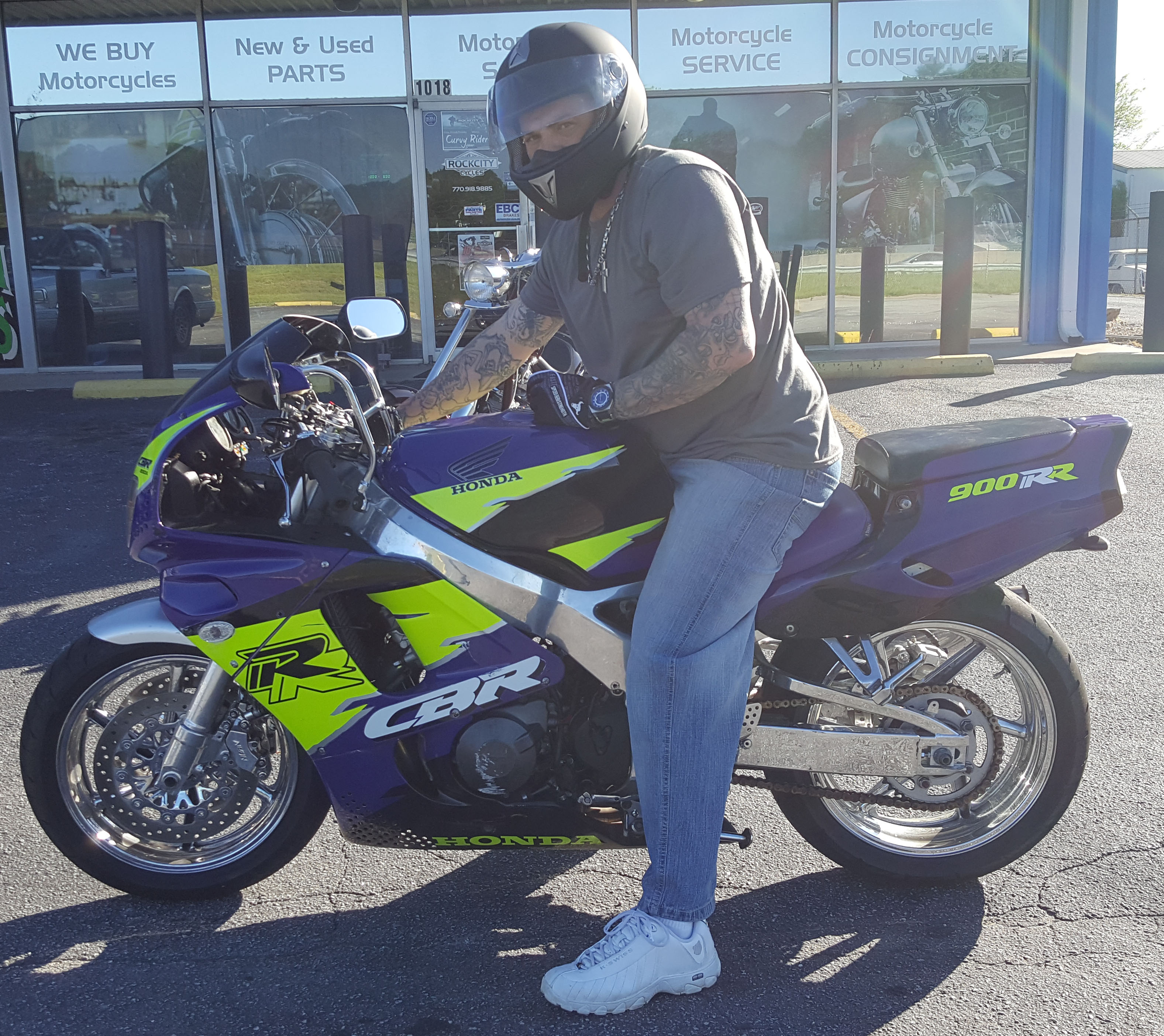 Kelby T. with 1995 Honda CBR900RR