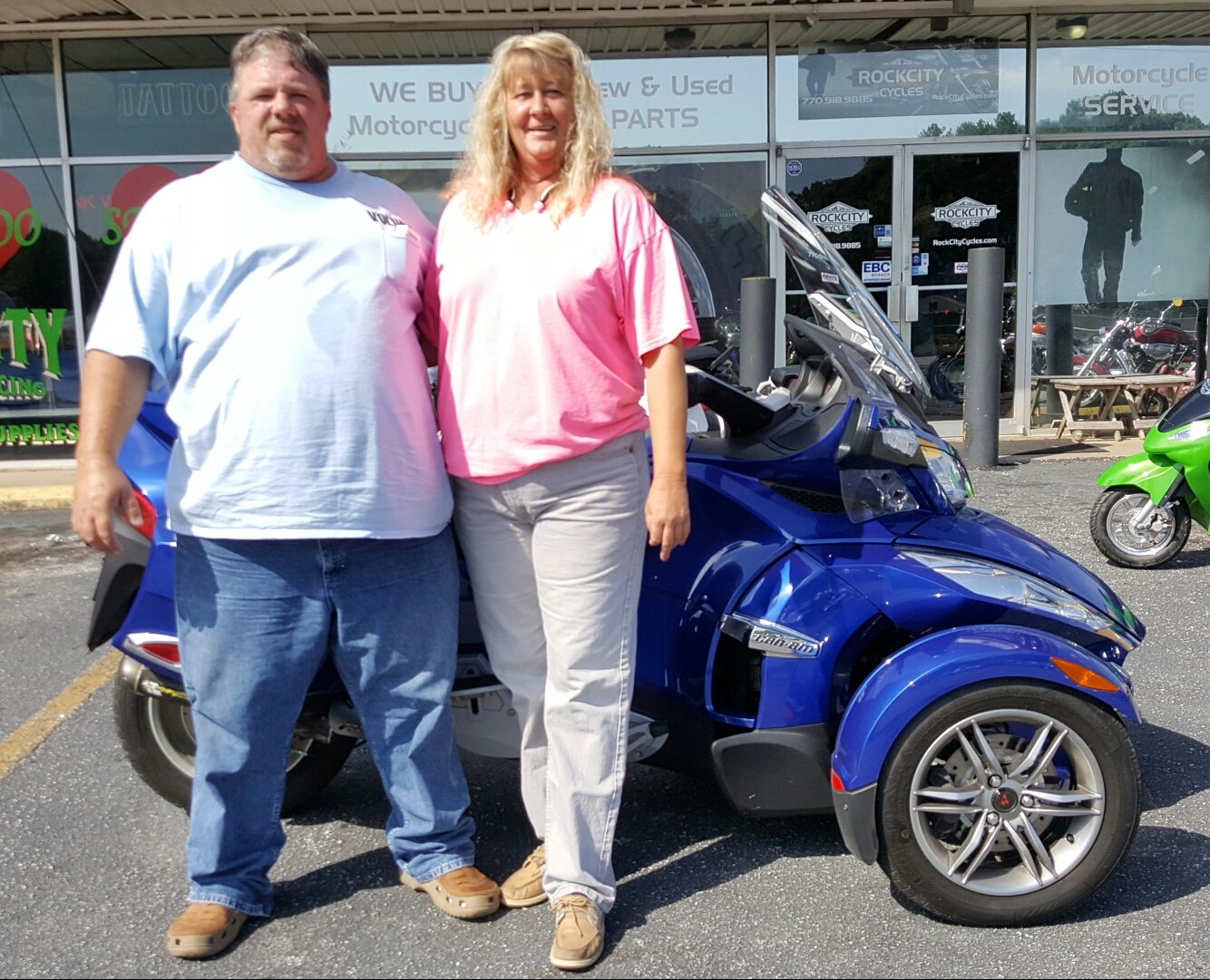 Hope with 2012 Can-Am Spyder RTS SE5