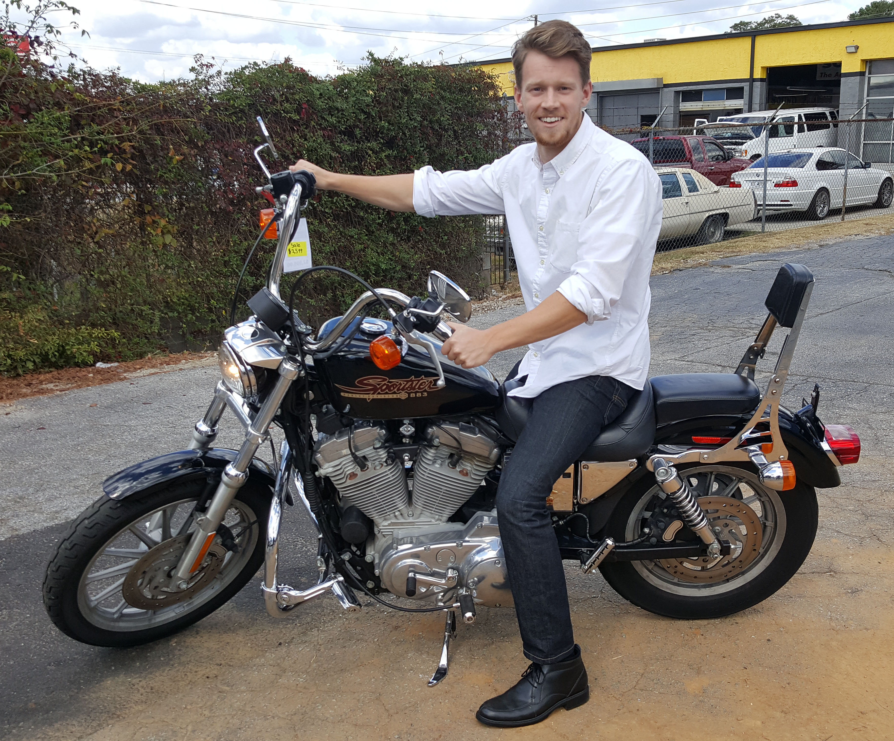 Ronald B. with 2001 Harley-Davidson XL883 Hugger