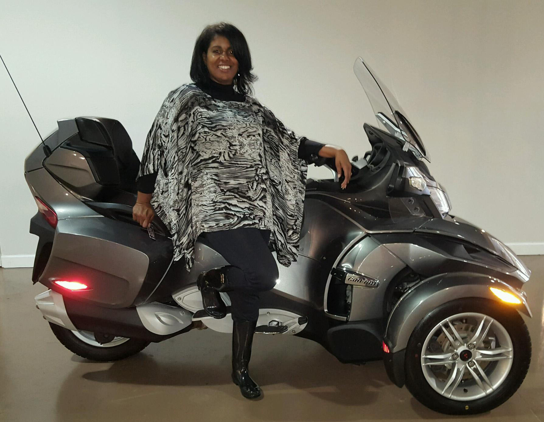 Tina S. with her 2012 Can-Am Spyder RT SE5
