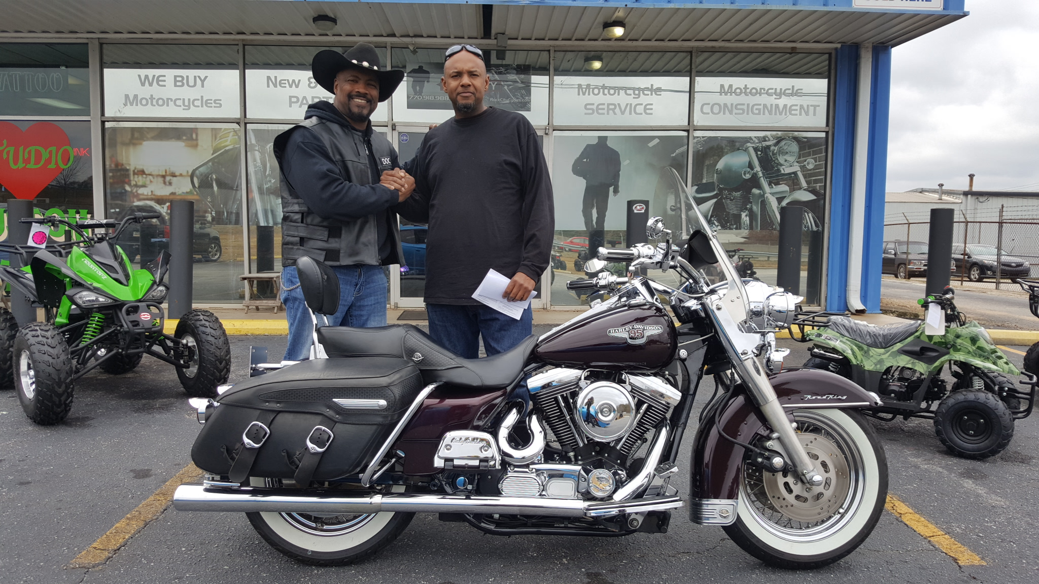 Honda Of Conyers >> Bernard D. with his 1998 Harley-Davidson Road King Classic ...