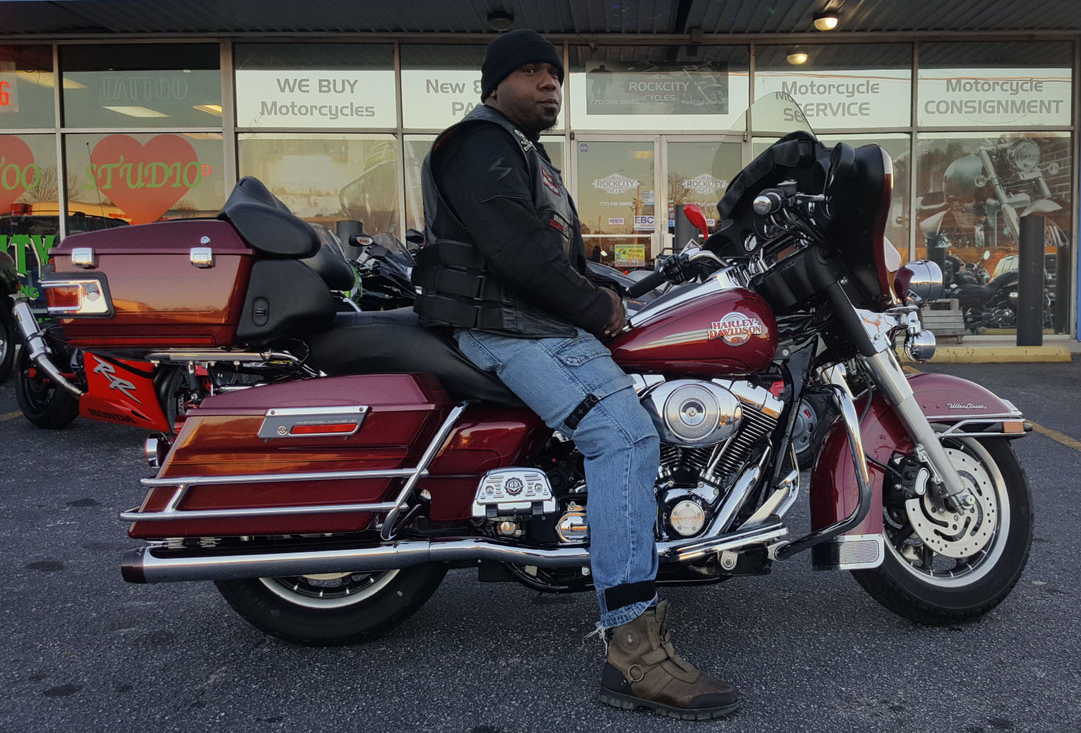 Brandon W. with his 2006 Harley-Davidson FLHTCUI Ultra Classic Electra Glide
