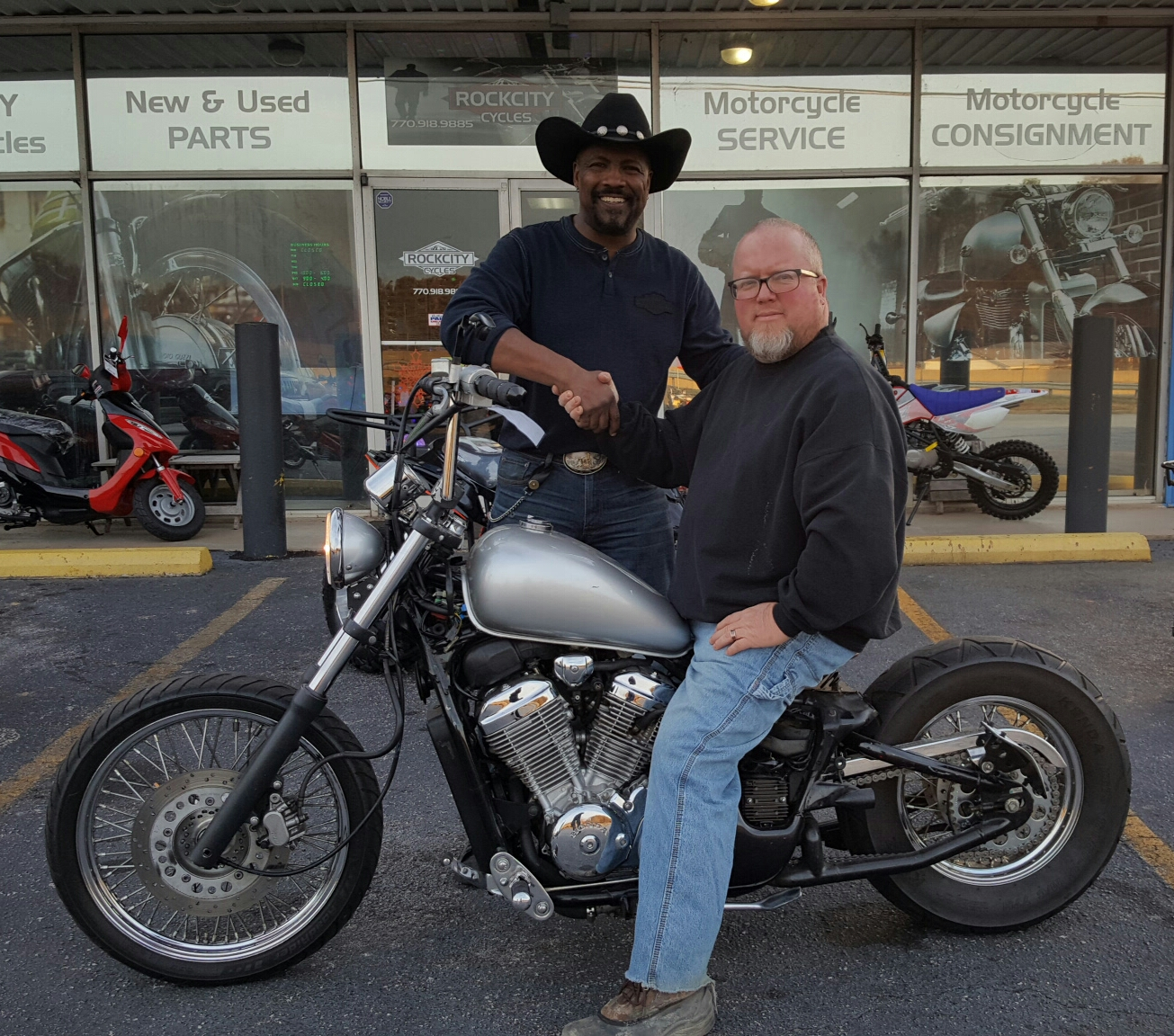 Darrin S. with his 2000 Honda Shadow VLX Deluxe VT600