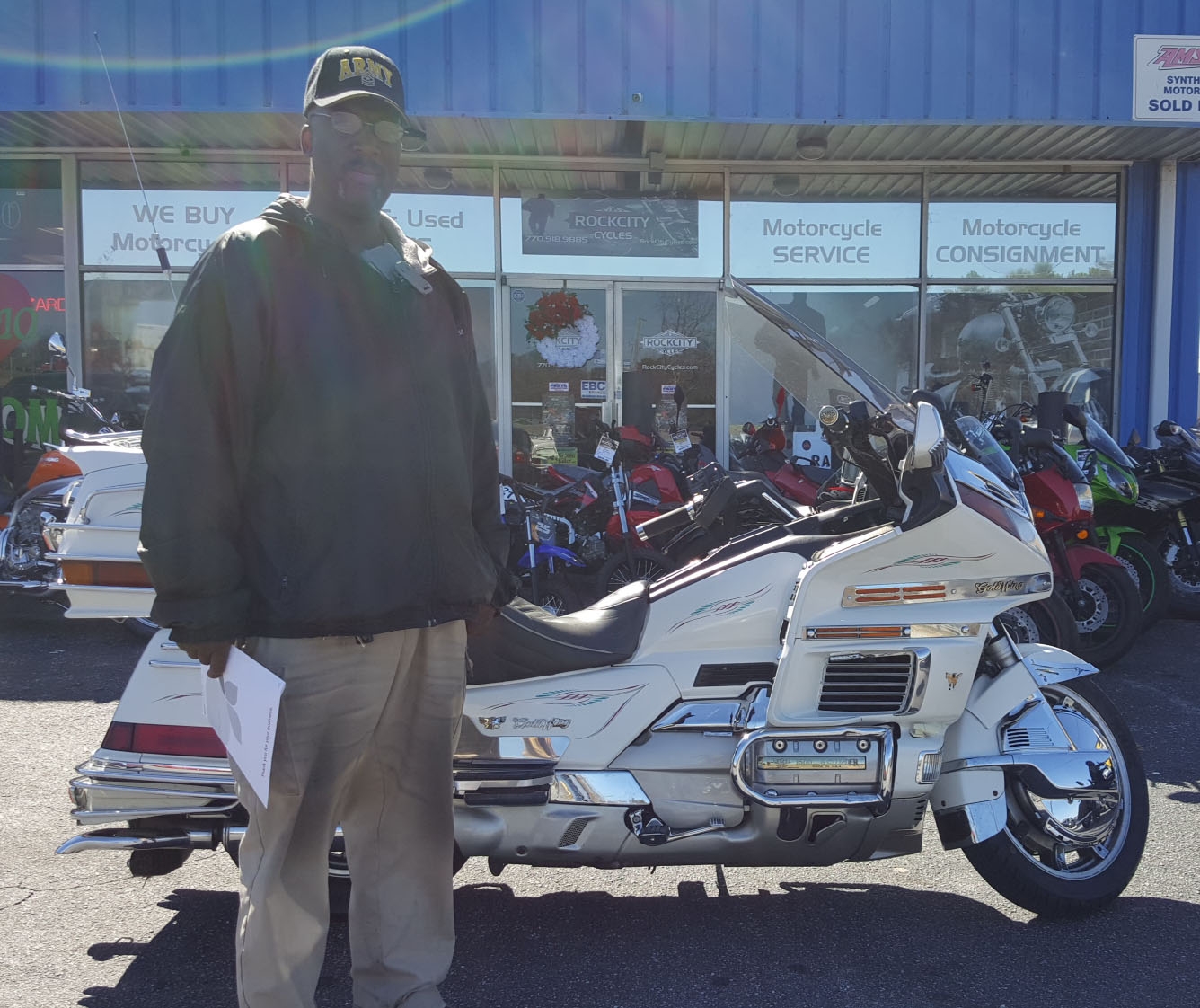 Darryl R. with his 1996 Honda Gold Wing GL1500SE