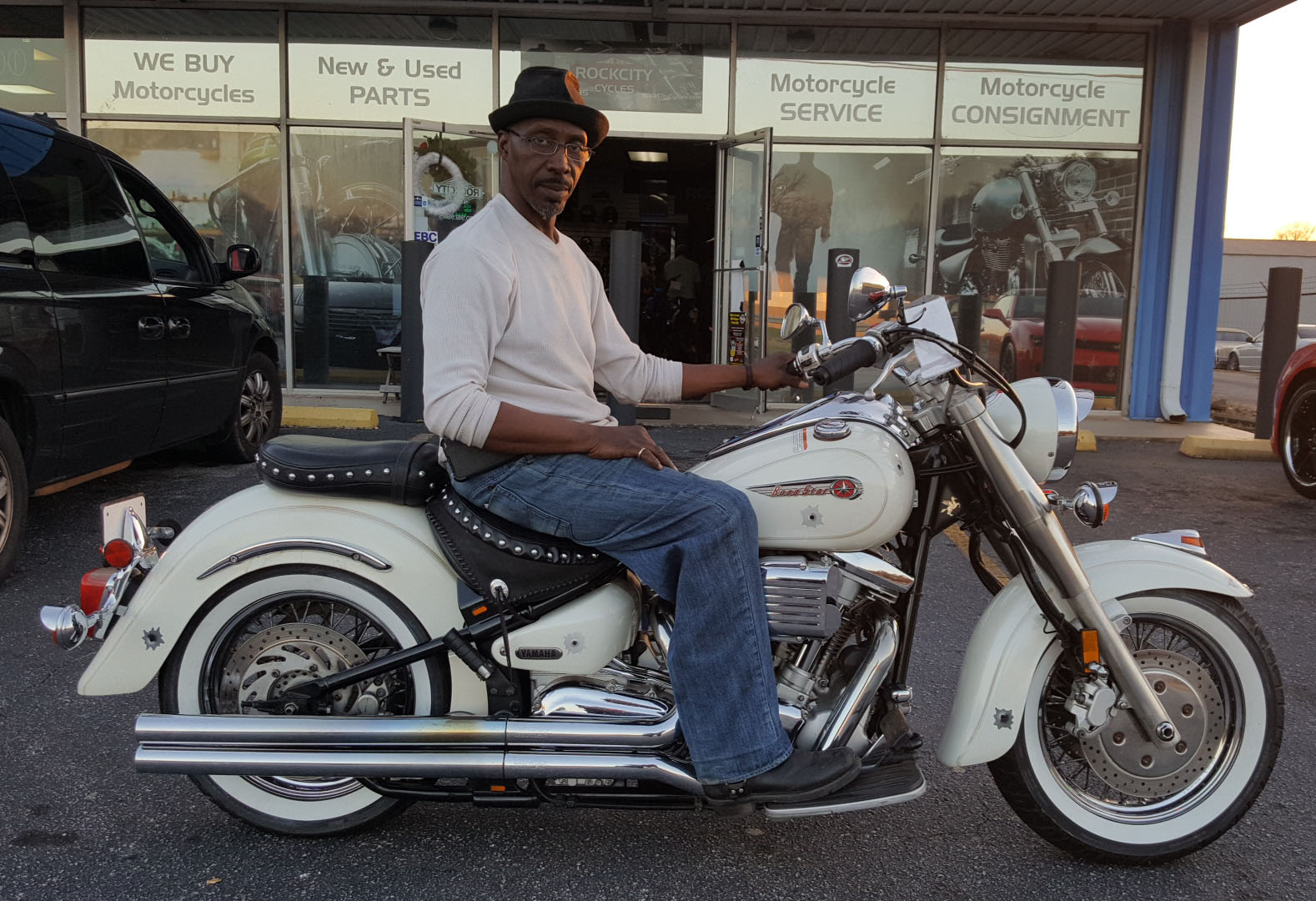Sam W. with his 2000 Yamaha XV1600