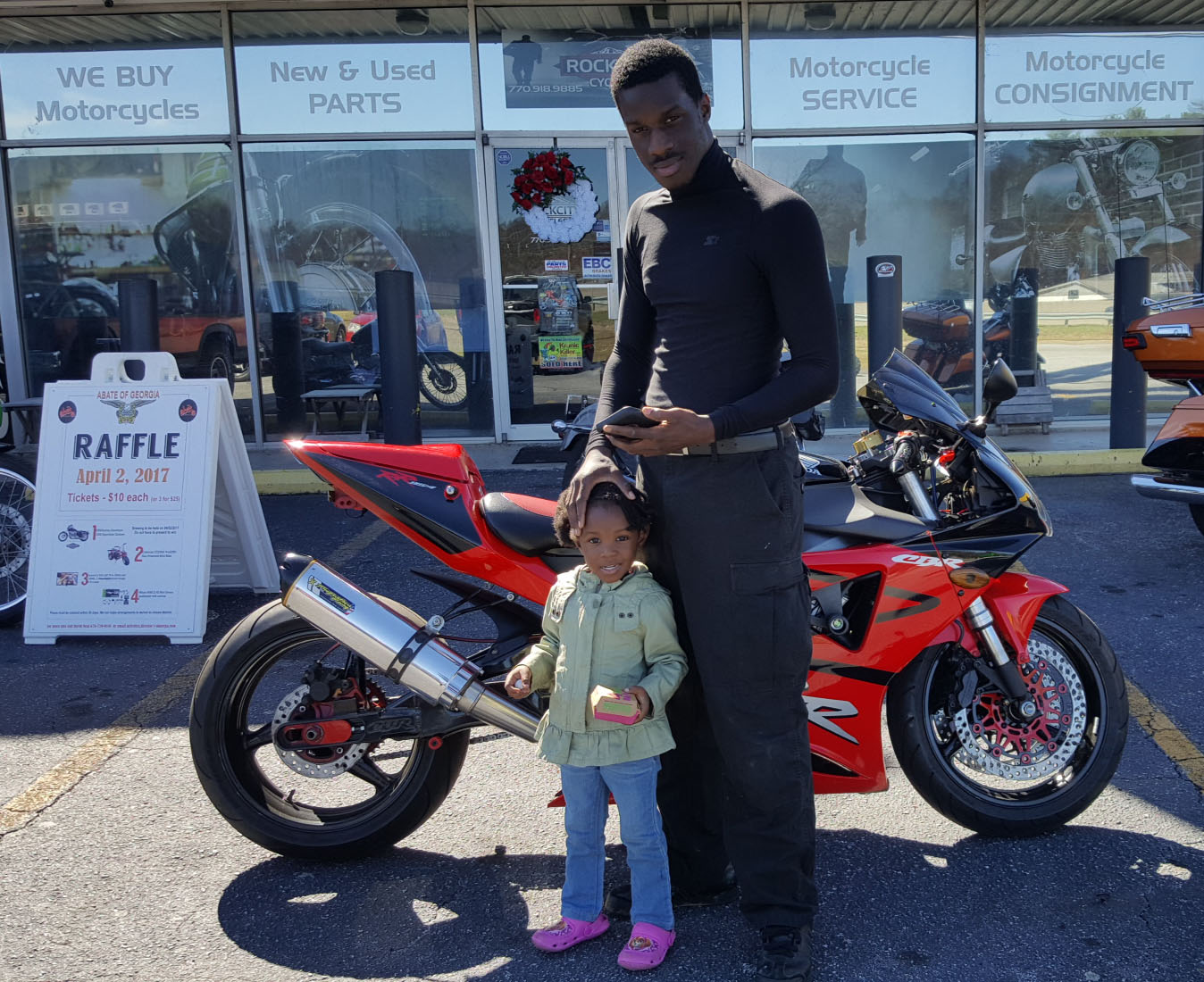 Tyreek D. with his 2003 Honda CBR954RR