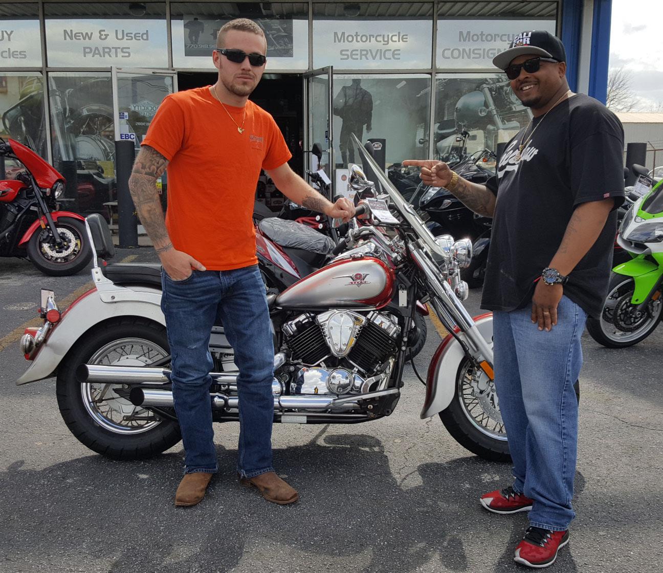 Jordan M. with his 2005 Yamaha XVS650