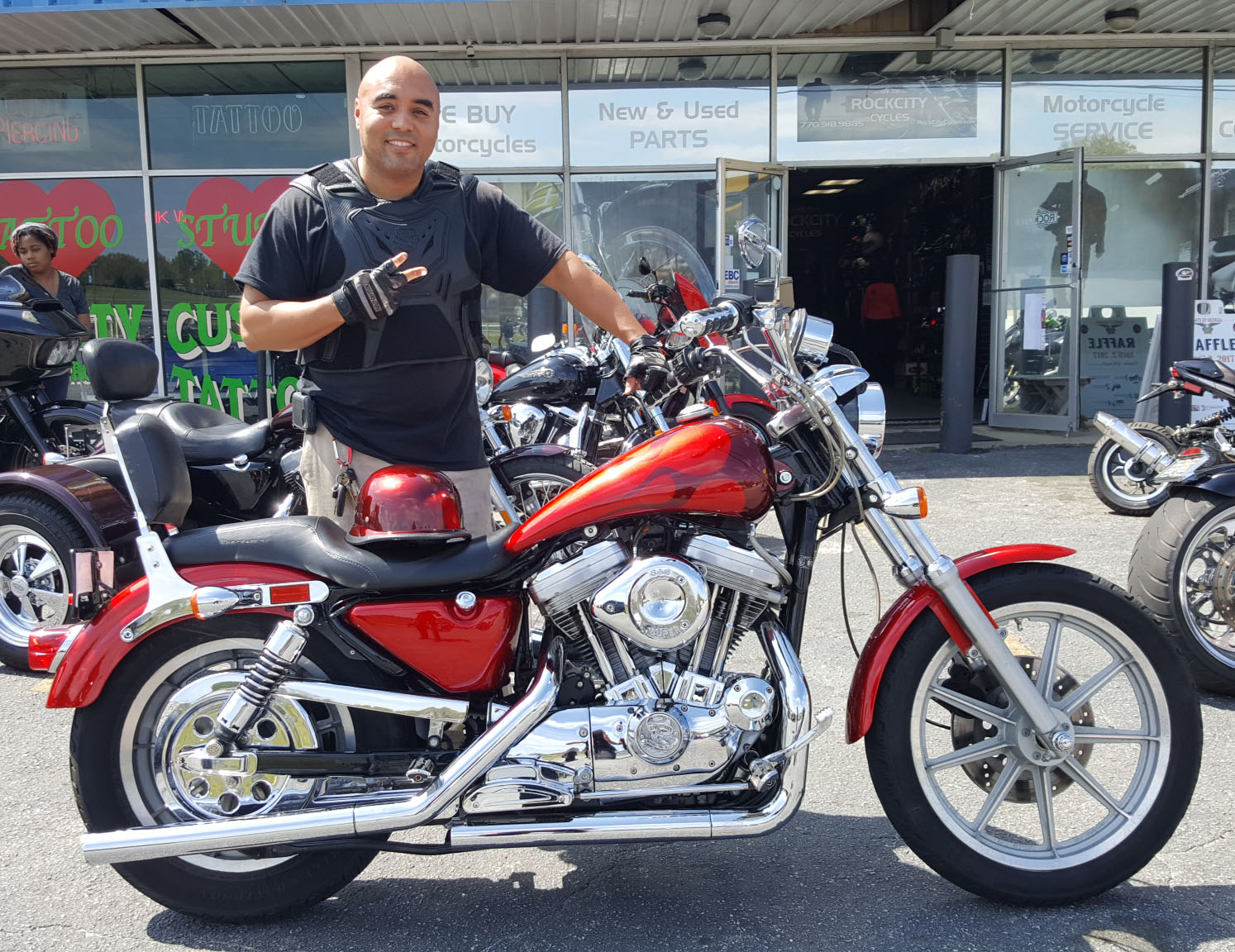 Tony S. with his 1992 Harley-Davidson XL883 Sportster