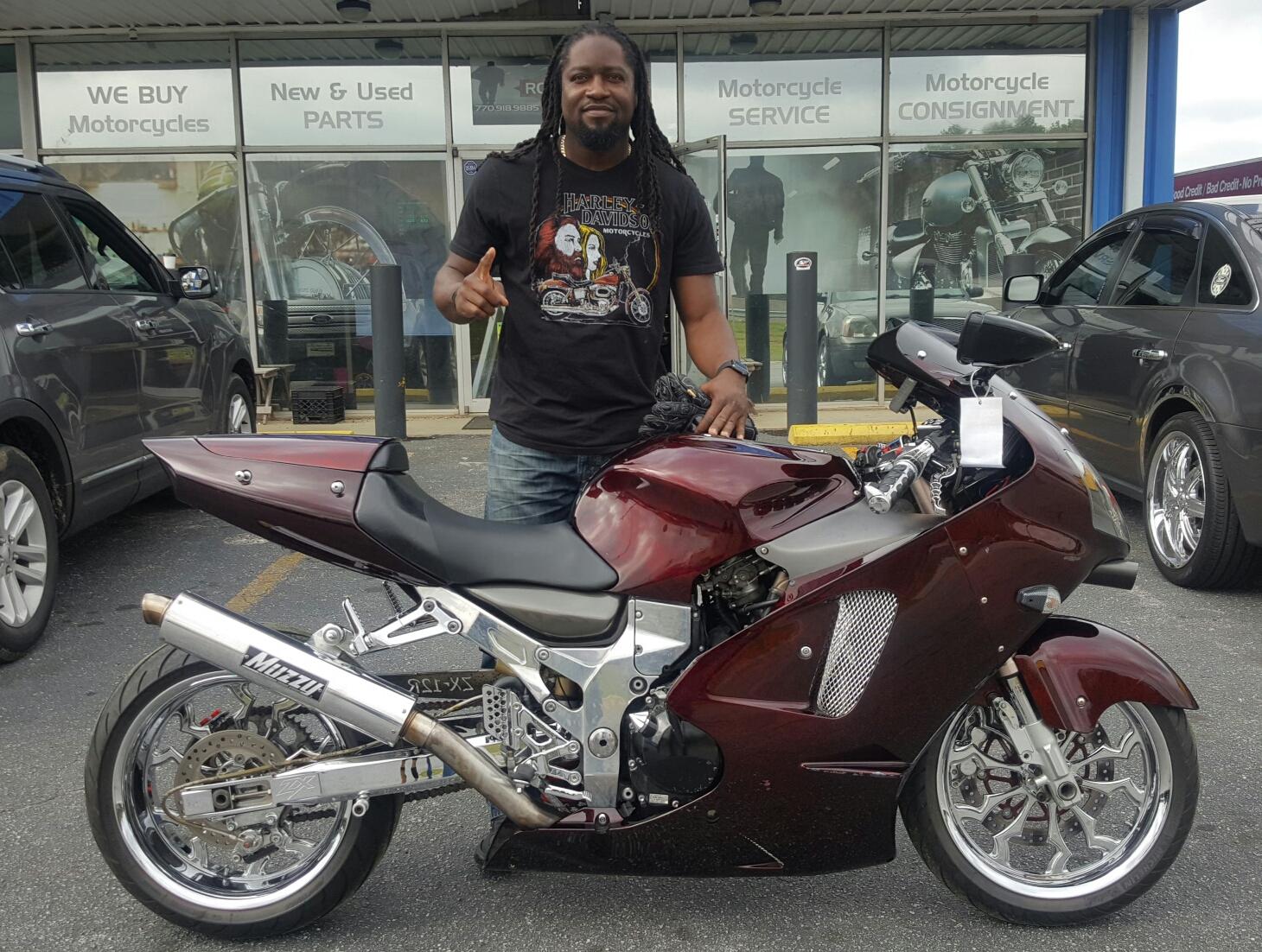 Honda Of Conyers >> Yahmani A. with his 2000 Kawasaki Ninja ZX12R – Rock City Cycles