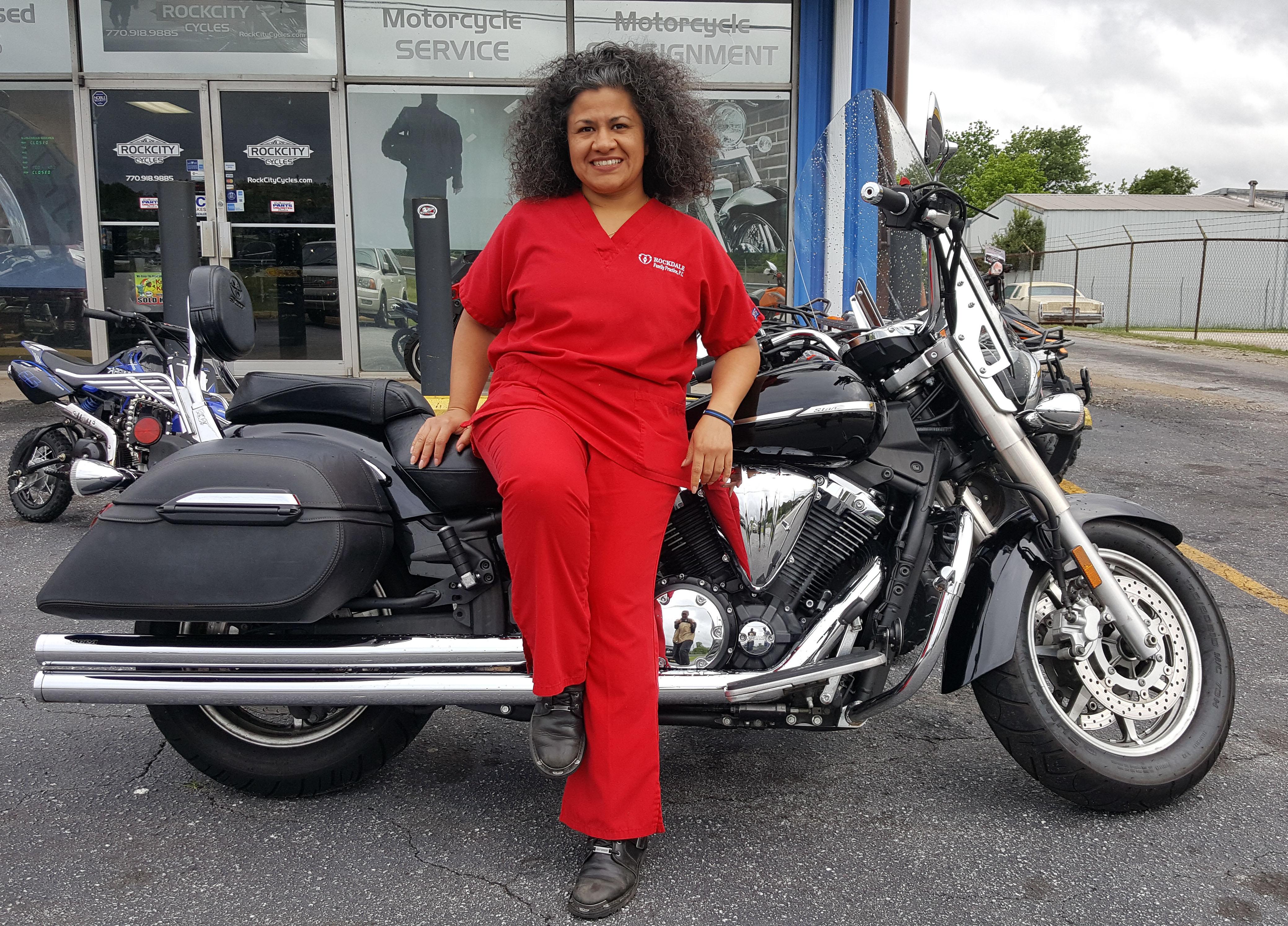 Tonya F. with her 2007 Yamaha XVS1300