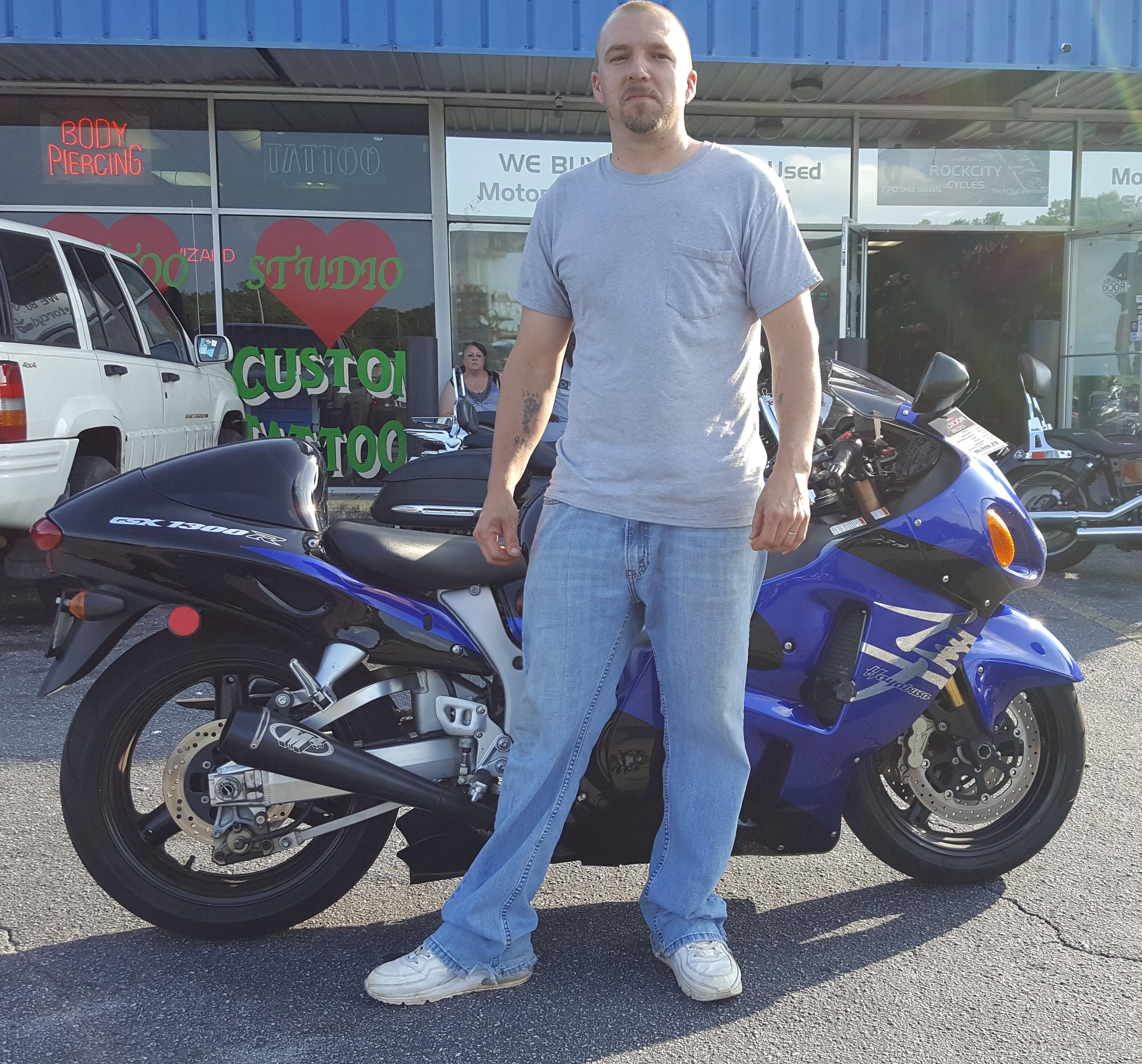 Clint M. with his 2004 Suzuki Hayabusa GSXR1300