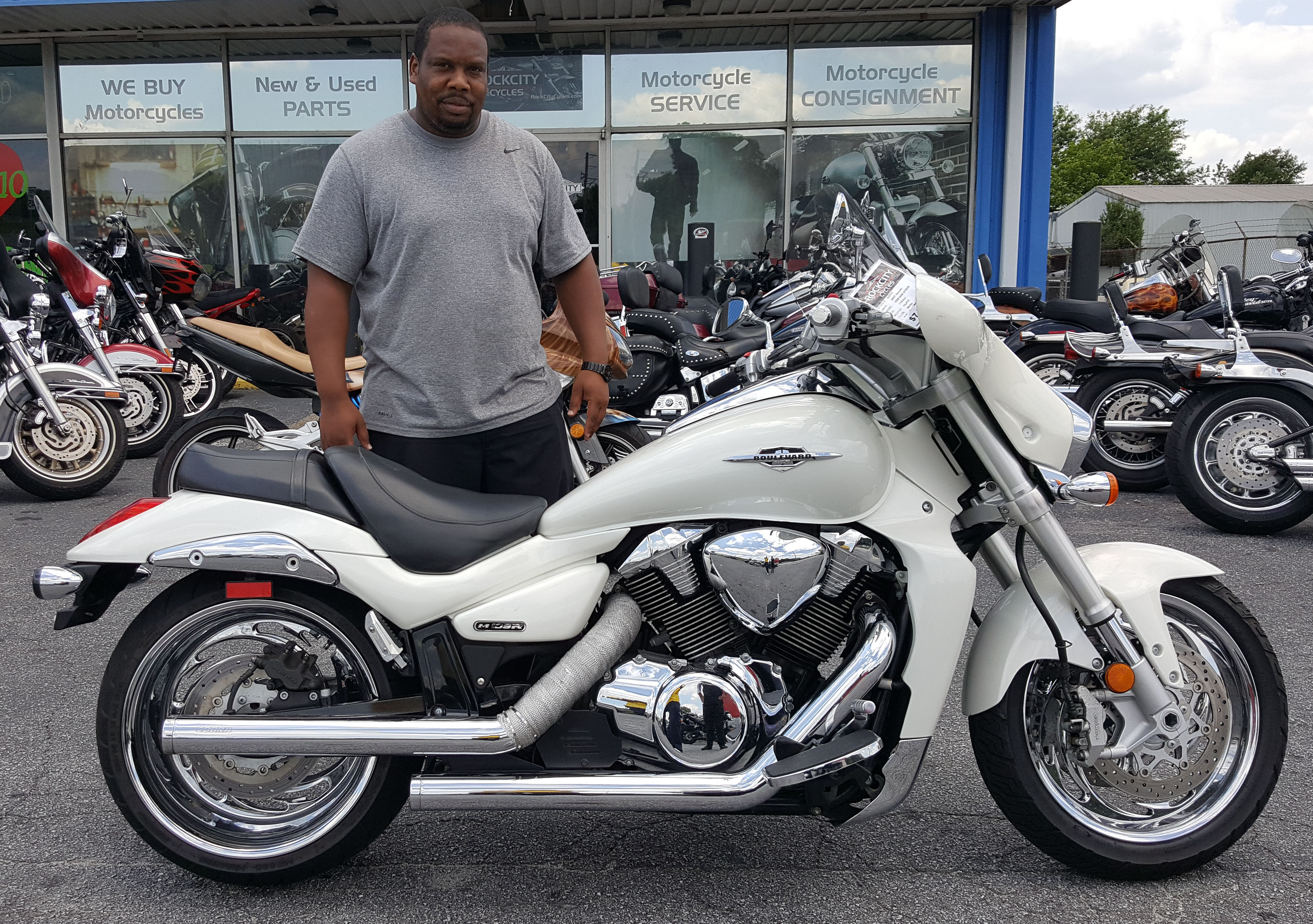 Honda Certified Pre Owned Financing >> Lanxton J. with his 2007 Suzuki Boulevard M109R – Rock City Cycles