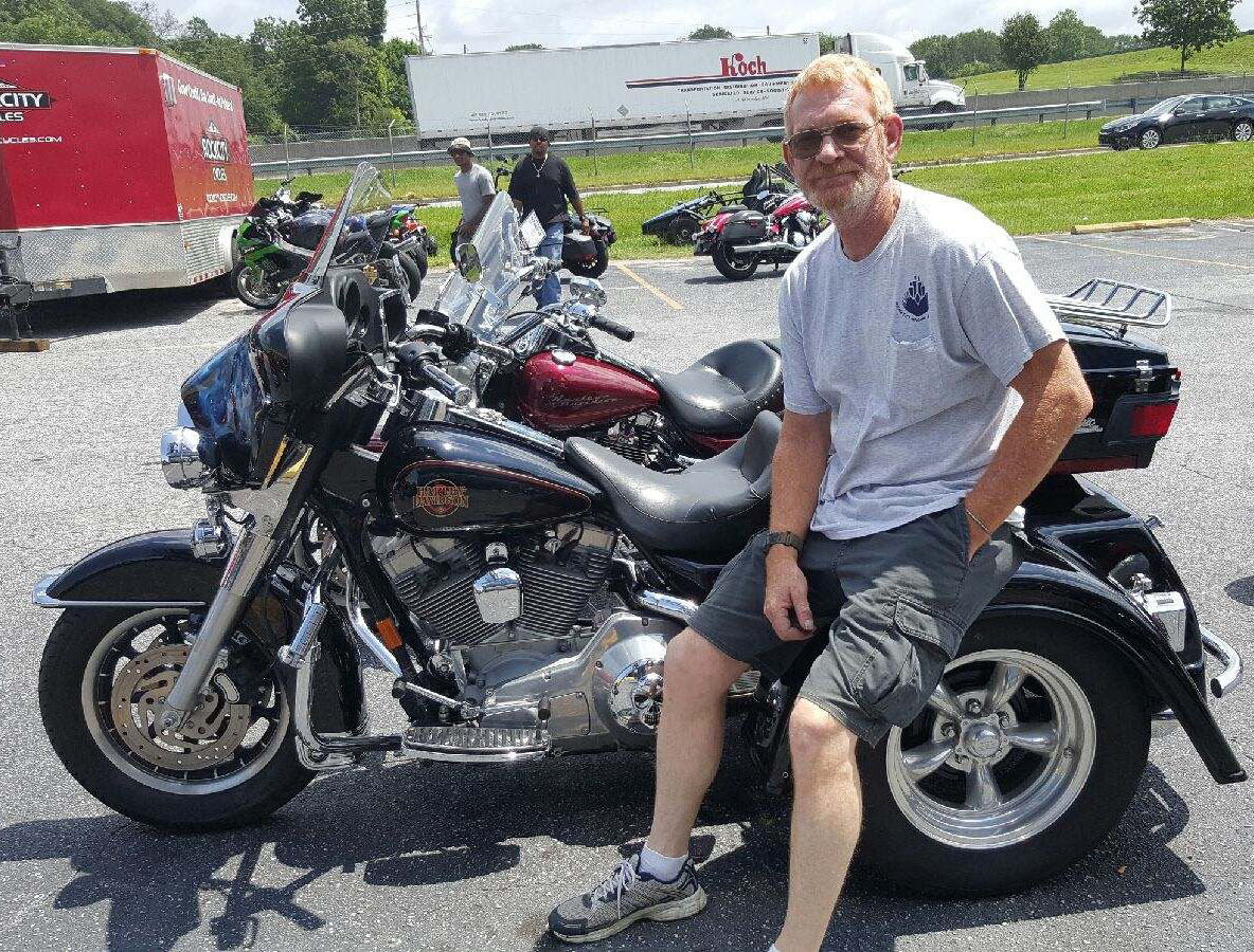 Steve W. with his 2002 HD FLHT Trike