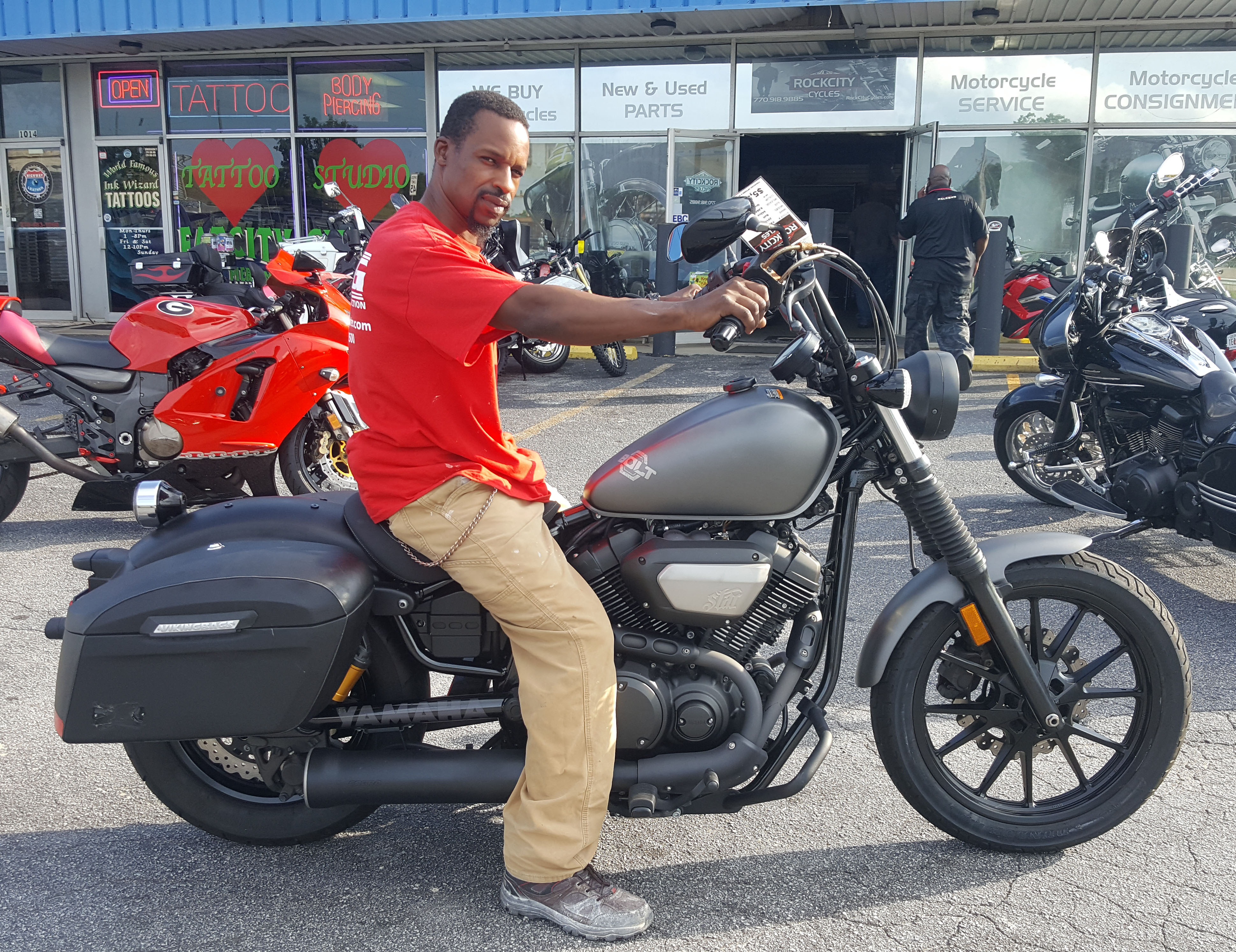 Danny P. with his 2014 Yamaha Bolt