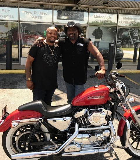 Dejuan G. with his 2002 Harley-Davidson XL1200C Sportster