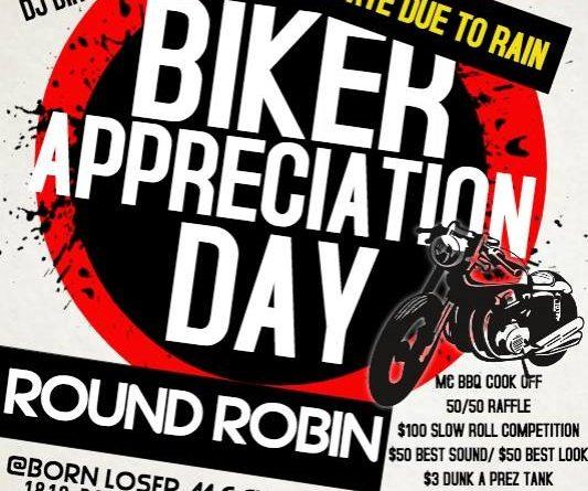 BIKER APPRECIATION DAY/ROUND ROBIN, Sun., 9/17/17