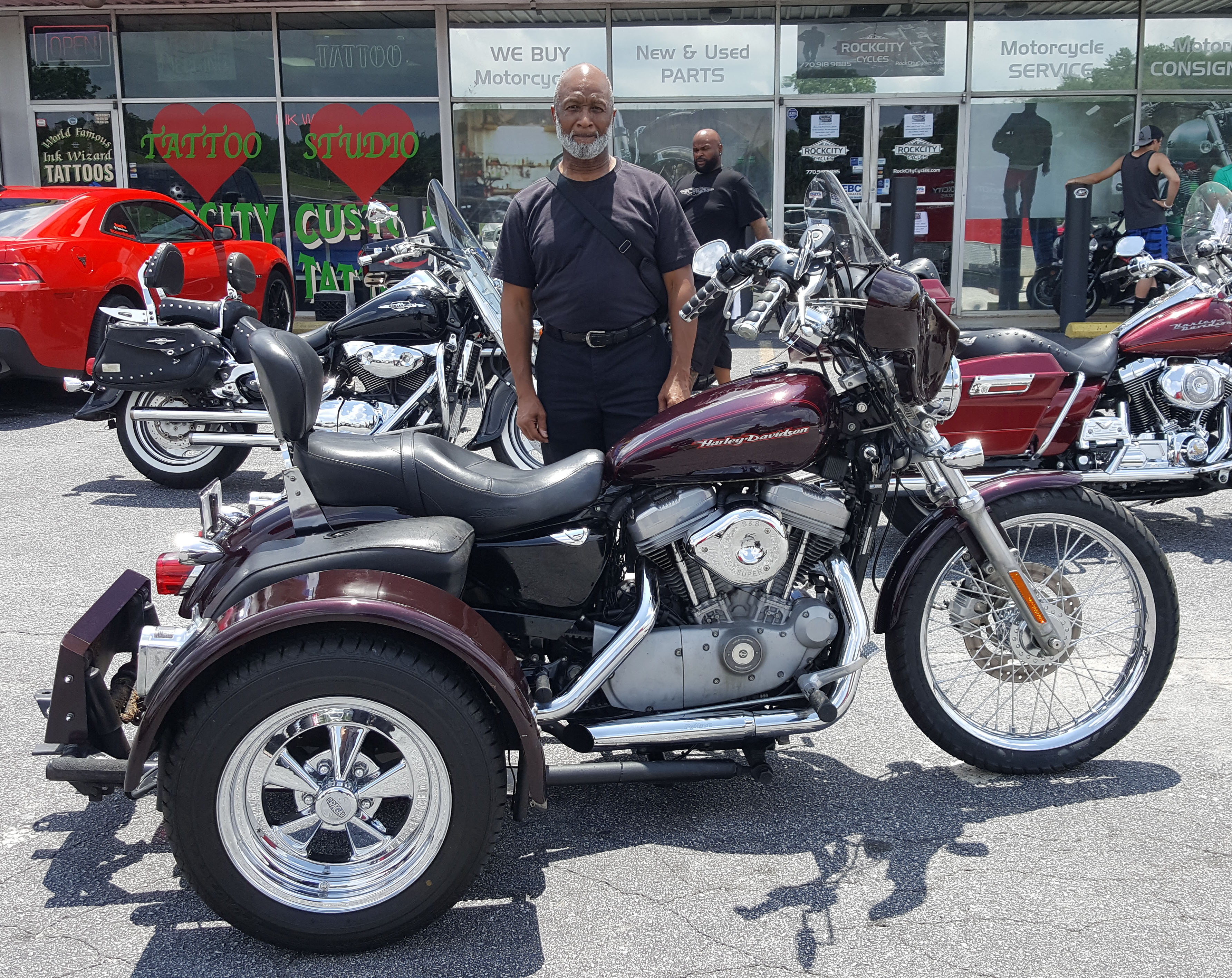 John S. with his 2005 Harley-Davidson XL883 Sportster Trike