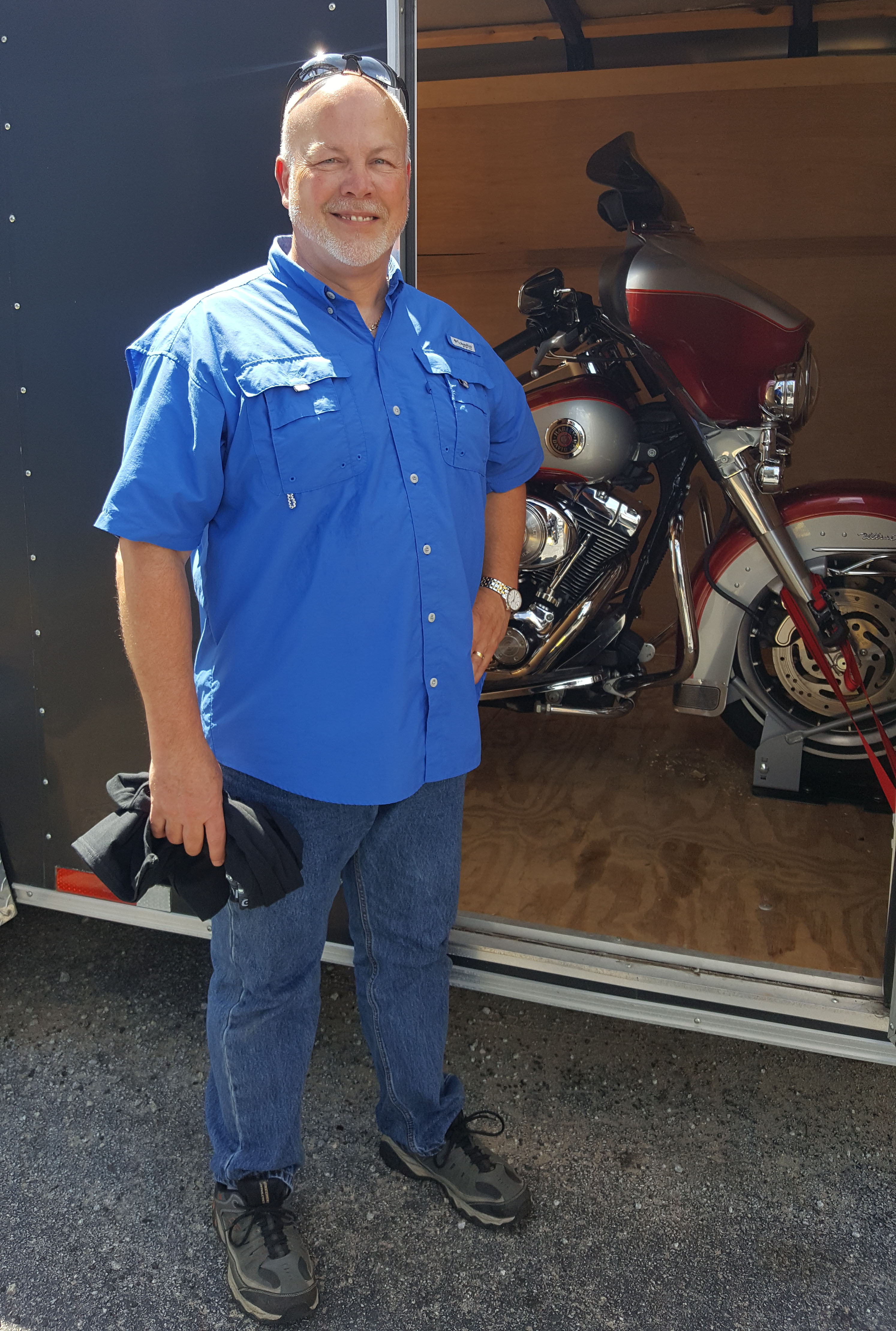 Lane W. with his 2004 Harley-Davidson FLHTCUI Ultra Classic Electra Glide
