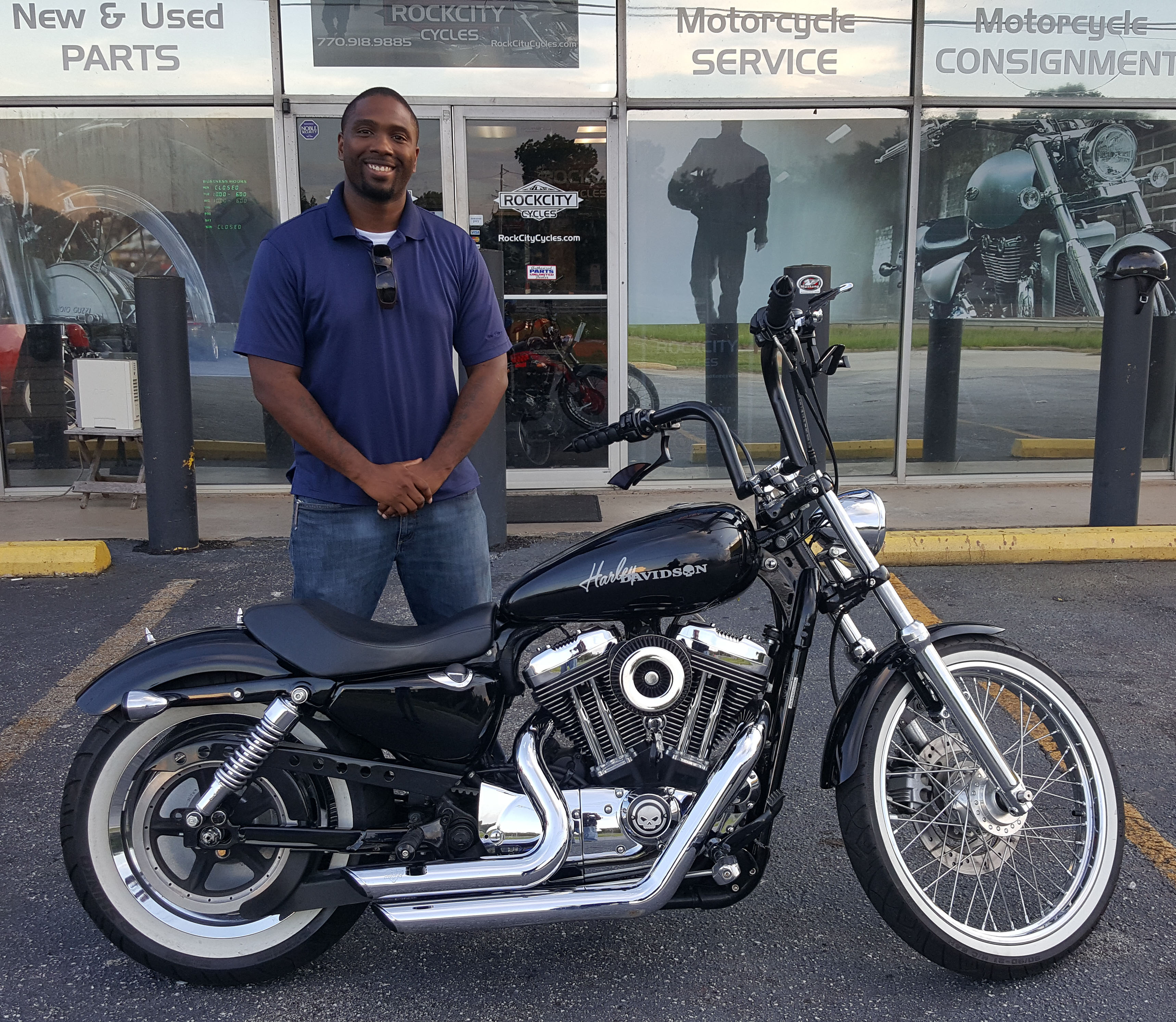 Stanley B. with his 2007 Harley-Davidson XL1200C Sportster