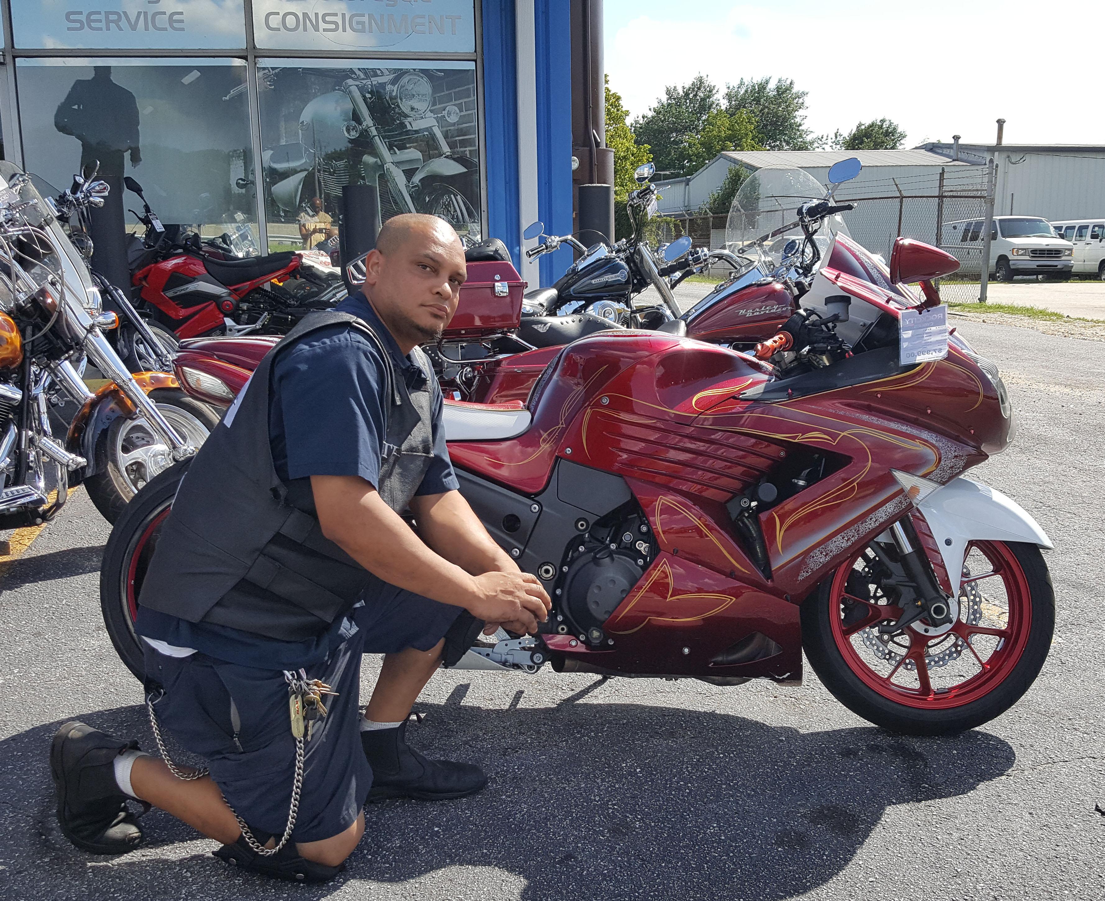 Timothy P. with his 2008 Kawasaki Ninja ZX14R