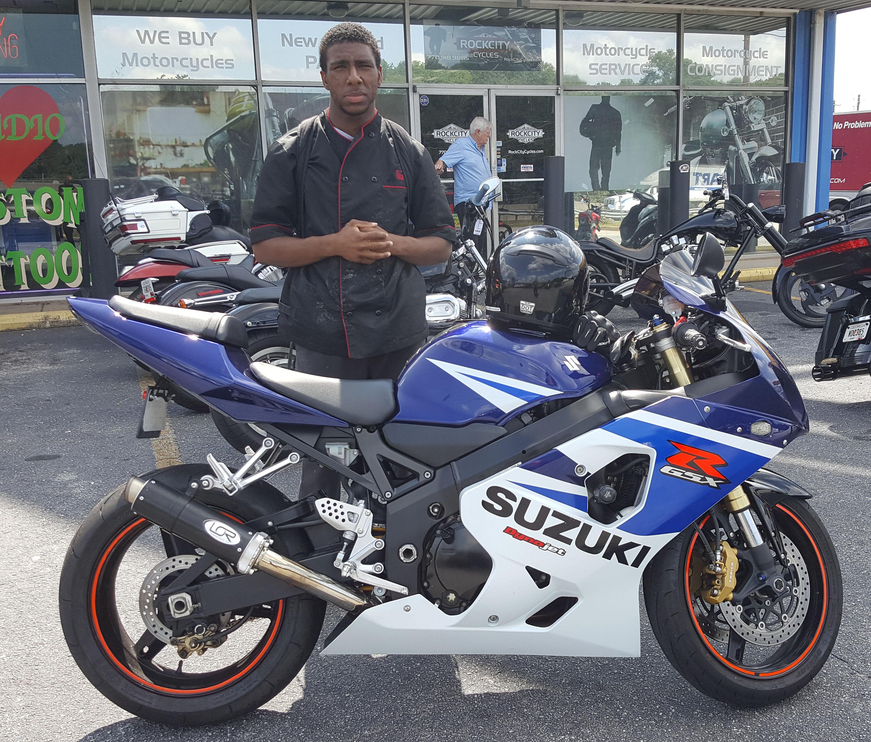 Bakari B. with his 2005 Suzuki GSX-R750