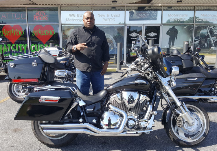 Christopher T. with his 2003 Honda VTX1800