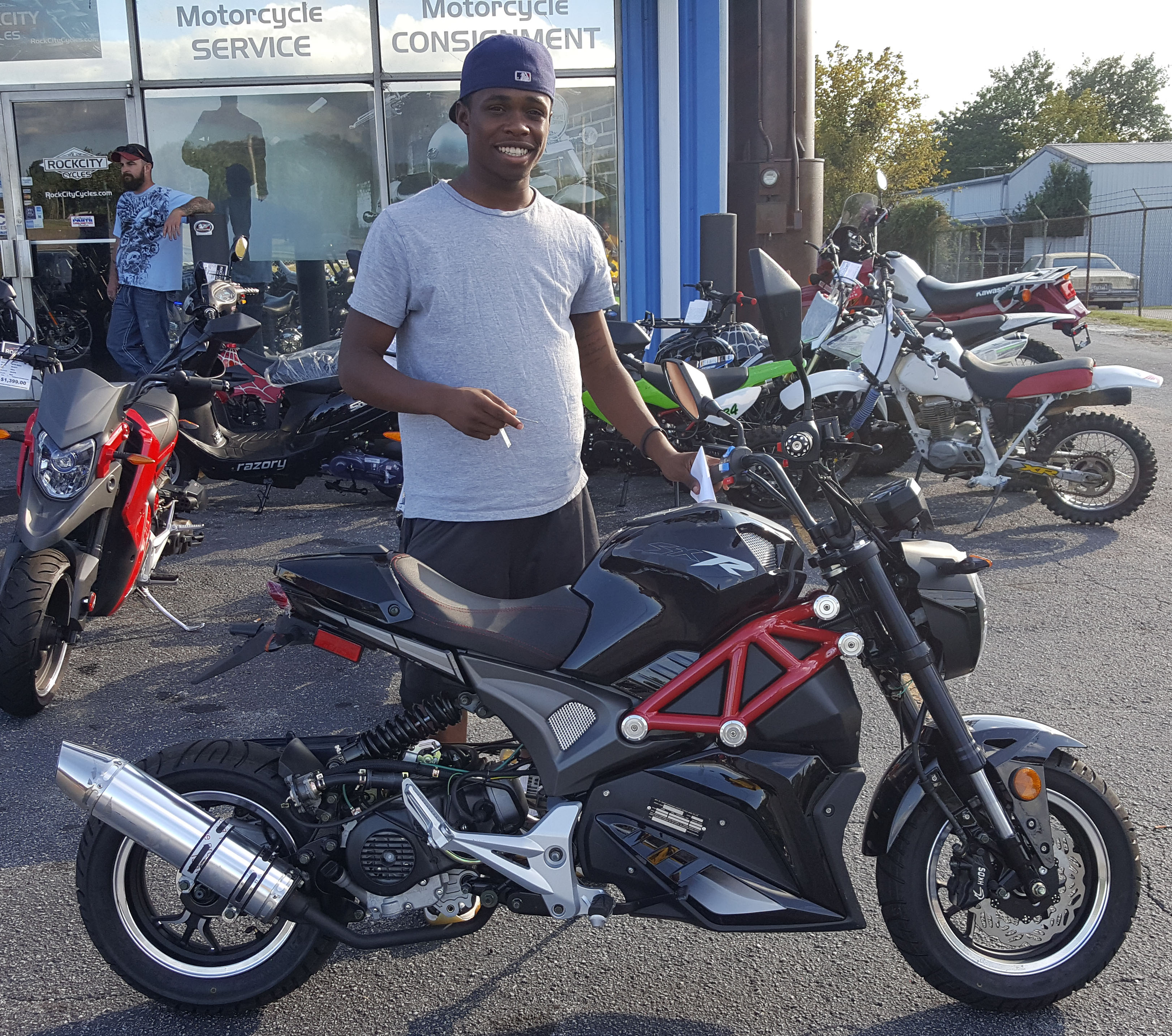 Marcus S. Jr. with his 2017 Dongfang 50-STT Scooter