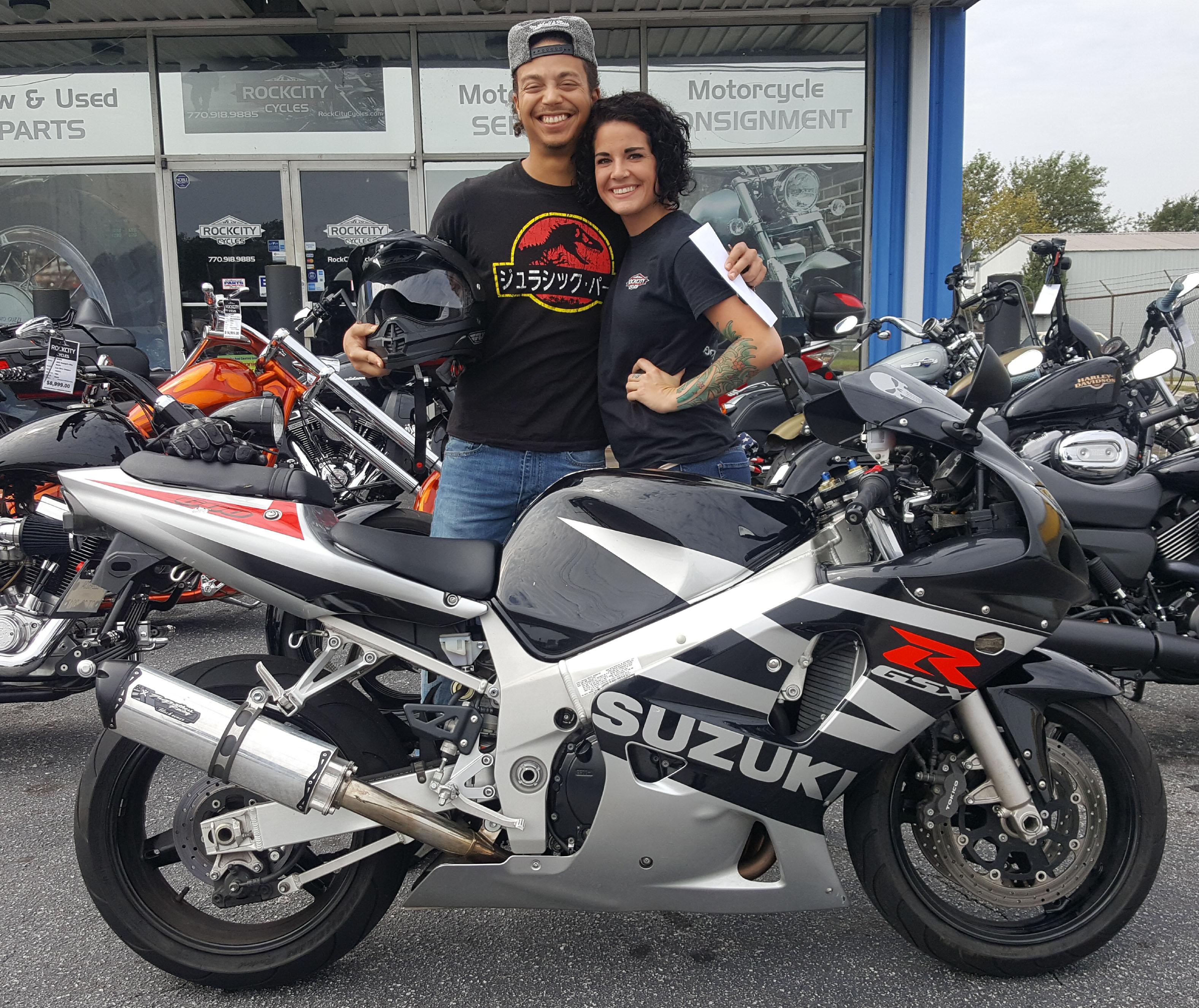 Patrick M. with his 2003 Suzuki GSX-R600