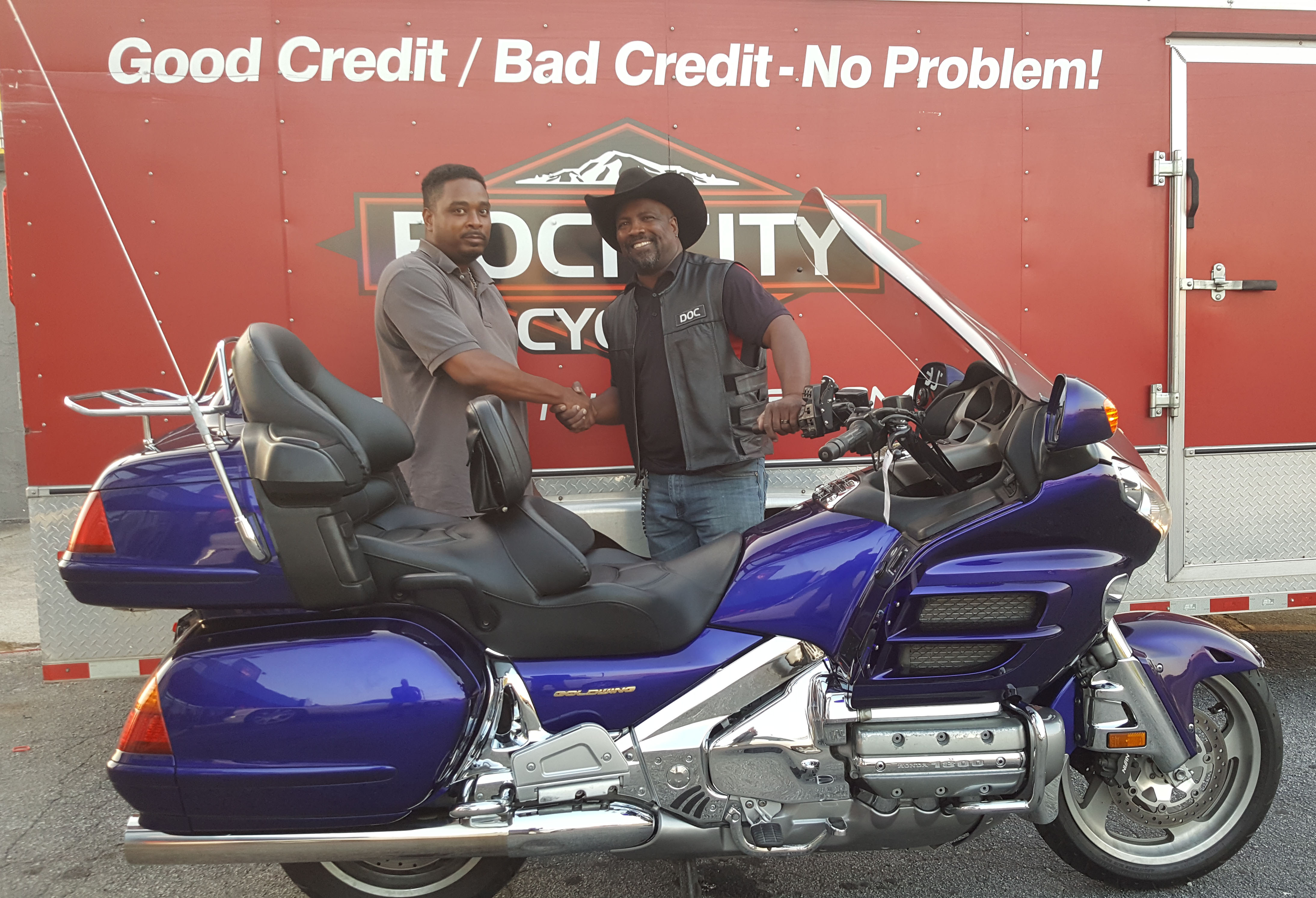 Richard R. with his 2003 Honda Gold Wing GL1800
