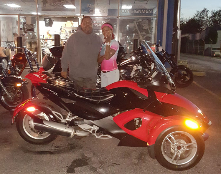 Donald & Sherry S. with their 2010 Can-Am Spyder RS SM5