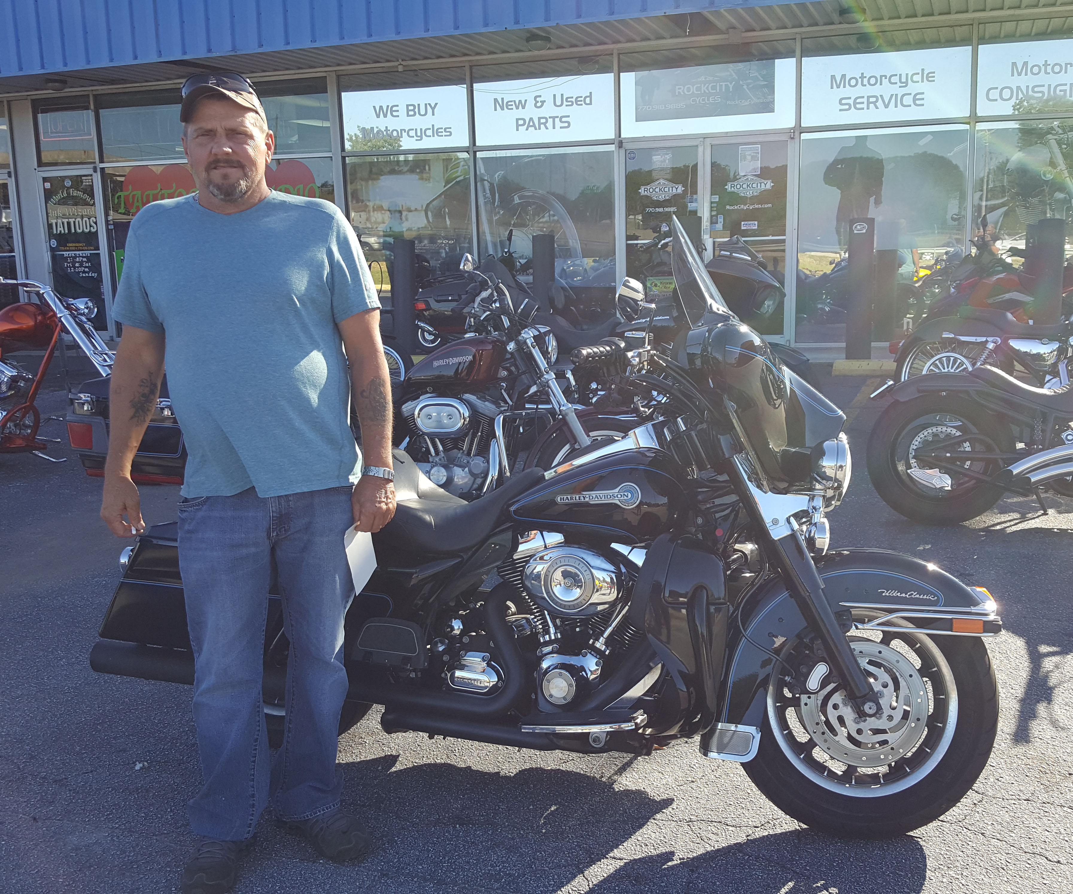 Howard S. with his 2007 Harley-Davidson FLHTCU Ultra Classic Electra Glide